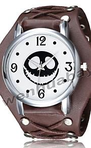 Męskie Zegarek na bransoletce Cyfrowy Na codzień Nowoczesne Skóra Pasmo Analogowo-cyfrowy Vintage Casual Czarny / Biały / Brązowy - Biały Czarny Brązowy