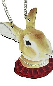 Damskie Długie Naszyjniki z wisiorkami - Królik Prosty, Moda Słodkie Beżowy 71 cm Naszyjniki Biżuteria 1 szt. Na Impreza / Wieczór, Szkoła