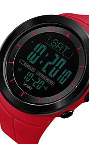 SKMEI Ανδρικά Ψηφιακό ρολόι Ψηφιακό σιλικόνη Μαύρο / Μπλε / Κόκκινο 50 m Ανθεκτικό στο Νερό Ημερολόγιο Διπλές Ζώνες Ώρας Ψηφιακό Υπαίθριο Μοντέρνα - Πράσινο Μπλε Χακί