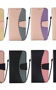 tok Για Samsung Galaxy S9 Plus / S8 Πορτοφόλι / Θήκη καρτών / με βάση στήριξης Πλήρης Θήκη Πλακάκι Σκληρή PU δέρμα για S9 / S9 Plus / S8 Plus