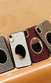 tok Για Apple iPhone XR / iPhone XS Max Στρας / Καθρέφτης / Λάμψη γκλίτερ Πίσω Κάλυμμα Μονόχρωμο Σκληρή TPU για iPhone XS / iPhone XR / iPhone XS Max