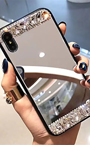 tok Για Apple iPhone XR / iPhone XS Max Στρας / Καθρέφτης Πίσω Κάλυμμα Πλακάκι Σκληρή Ψημένο γυαλί για iPhone XS / iPhone XR / iPhone XS Max