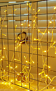 10 ίντσες Φώτα σε Κορδόνι 100 LEDs Ψυχρό Λευκό / Κόκκινο / Μπλε Αδιάβροχη / Δημιουργικό / Πάρτι 220-240 V / 110-120 V 1set