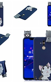 tok Για Huawei Huawei Honor 8X / Honor 9 Lite Με σχέδια Πίσω Κάλυμμα Γάτα / Κινούμενα σχέδια Μαλακή TPU για Huawei Honor 9 Lite / Huawei Honor 8X / Honor 7A