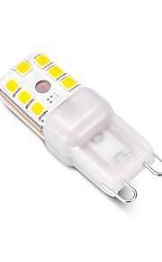 3 W LED Φώτα με 2 pin 240 lm G9 T 12 LED χάντρες SMD 2835 Με ροοστάτη Διακοσμητικό Θερμό Λευκό Ψυχρό Λευκό 220 V, 1pc