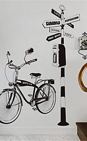 δημιουργικό σαλόνι καναπέ διακόσμηση φόντου ζωγραφισμένα στο χέρι αυτοκόλλητα ποδηλάτων εξατομικευμένη αίθουσα μελέτης διάδρομος βεράντα αυτοκόλλητα τοίχων ποδηλάτου