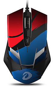 DAREU EM902 Ενσύρματο USB Οπτικό Gaming Mouse Πολυχρωμία οπίσθιο φωτισμό 4000 dpi 4 Ρυθμιζόμενα επίπεδα DPI 6 pcs Κλειδιά