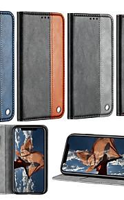Кейс для Назначение Xiaomi Xiaomi Redmi 6 Pro / Xiaomi Redmi Note 7 Pro Бумажник для карт / со стендом / Флип Чехол Однотонный Твердый Кожа PU для Redmi Note 5A / Xiaomi Redmi 6 Pro / Xiaomi Redmi