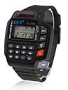 EL Back Light Remote Control & Calculator Wrist Watch - Black Cool Watch Unique Watch