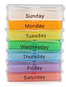 красочные 7 дней дизайн таблетки коробка с стойкой