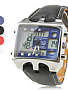 Men's Watch Military Analog-Digital Multi-Function Dual Time Zones Cool Watch Unique Watch