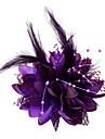 Mulheres Menina das Flores Penas Algodao Capacete-Casamento Ocasiao Especial Fascinador Flores