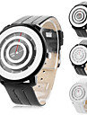 Men's and Women's Circle Face PU Analog Quartz Wrist Watch (Assorted Colors)