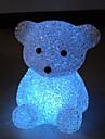 estilo mini urso luz da noite de cristal (cor aleatória)