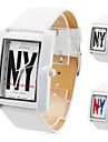 unissex pu analógico relógio de pulso de quartzo (branco)