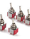 6P Toggle Switch For Electronics Diy Ac 250V 2A 120V 5A Spdt On/Off/On(5 Pieces A Pack)