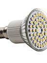 150lm E14 LED 스팟 조명 MR16 48 LED 비즈 SMD 3528 따뜻한 화이트 220-240V