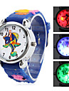 Children's Cartoon Fish Style Silicone Analog Quartz Wrist Watch with Flashing LED Light (Blue) Cool Watches Unique Watches