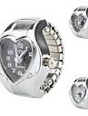 여성의 마음 - 모양의 스타일 합금 아날로그 석영 링 시계 (여러 색)