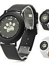 des femmes de style chien pattes pu analogique montre-bracelet à quartz (couleurs assorties)