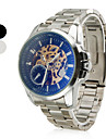 Men's Casual Style Alloy Analog Mechanical Wrist Watch (Silver)