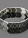 pulseira de aço inoxidável de eruner®men (prata)