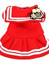Vestidos - Todas as Estações - Vermelho Algodão - para Cães - XS / M / XL / S / L