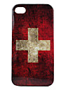 Vintage Style Swiss Flags Pattern Hard Case for iPhone 4 and 4S