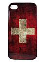 아이폰 4와 4S를위한 빈티지 스타일의 스위스 국기 패턴 하드 케이스