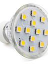 3W 80-100lm GU10 Точечное LED освещение MR16 12 Светодиодные бусины SMD 5050 Тёплый белый 220-240V