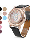 femmes de style en or au poignet en cuir PU montre à quartz analogique (couleurs assorties)