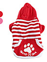 Footprint Striped Hoodie Coat for Dogs (XS-XL, Assorted Colors)