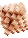 뇌 맛보기 메시지는 나무 퍼즐 장난감을 다시 재 조립 분해