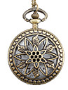 Women's Pocket Watch Quartz Alloy Band Vintage Flower Bronze
