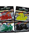 20 pcs Soft Bait Lure kits Black Green Yellow Red g/Ounce mm inch,PVC Sea Fishing Freshwater Fishing Bass Fishing Lure Fishing