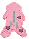 Dog Rain Coat Dog Clothes Waterproof Solid Pink