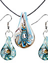 Women's Jewelry Set Fashion Party Special Occasion Anniversary Birthday Gift Glass Earrings Necklaces