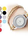 여성의 세련된 스타일 PU 아날로그 석영 팔찌 시계 (여러 색)