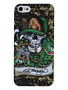 Зеленая шляпа череп рисунок головы жесткий футляр для iphone 5/5s