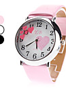 Кварцевые аналоговые женщин сердце шаблон набора PU группы наручные часы (разных цветов)
