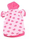 Chien Pulls a capuche Vetements pour Chien Coeur Rose Polaire Costume Pour les animaux domestiques Homme Femme Decontracte / Quotidien