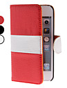 PU Leather Case with Stand and Card Slot for iPhone 5/5S (Assorted Colors)
