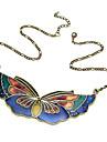Vintage Butterfly Acrylic Alloy Necklace