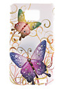 Colorful Butterfly Pattern Hard Case with Diamond for Samsung Galaxy S2 I9100