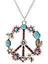 Colorful Peace Symbol Pattern Necklace