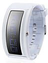 유니섹스 블루 프로그래머블 디지털 흰색 실리콘 밴드 손목 시계,