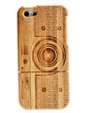 Retro Camera Pattern Detachable Wooden Case for iPhone 5