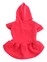 Dog Hoodies - XS / S / M / L / XL - Spring/Fall - Red / White Cotton