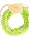 Dog Toy Pet Toys Chew Toy Teeth Cleaning Toy Loofahs & Sponges Cartoon Textile Yellow Rose Green