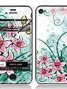 Elegante design dianteiro Flower and Screen Protector Film Voltar para o iPhone 4/4S